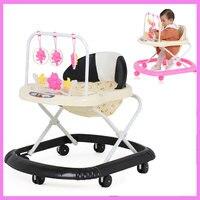 3 Levels Adjustable Folding Baby Walker Musical With Wheels Walker Asisstant Toddler Learning Walking Aid Rocking