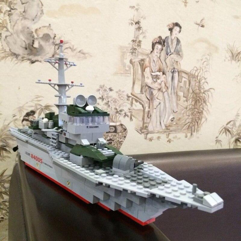 Kazi 84005 288 шт. военный корабль фрегат Набор строительных блоков Кирпичи Модель игрушка в подарок Лепин ...