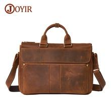 Joyir Luxury15″ Laptop Bag Mens Briefcase Genuine Leather Handbag Executive Business Shoulder Bags Men Travel Bolsos 6223