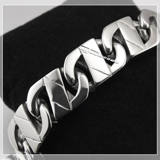 Sample Order 8.3 316L Stainless Steel Mens Bracelet 5A008 Biker Jewellery sample order 8 2 heavy 316l stainless steel men boy s biker bracelet 5d002 length customizable