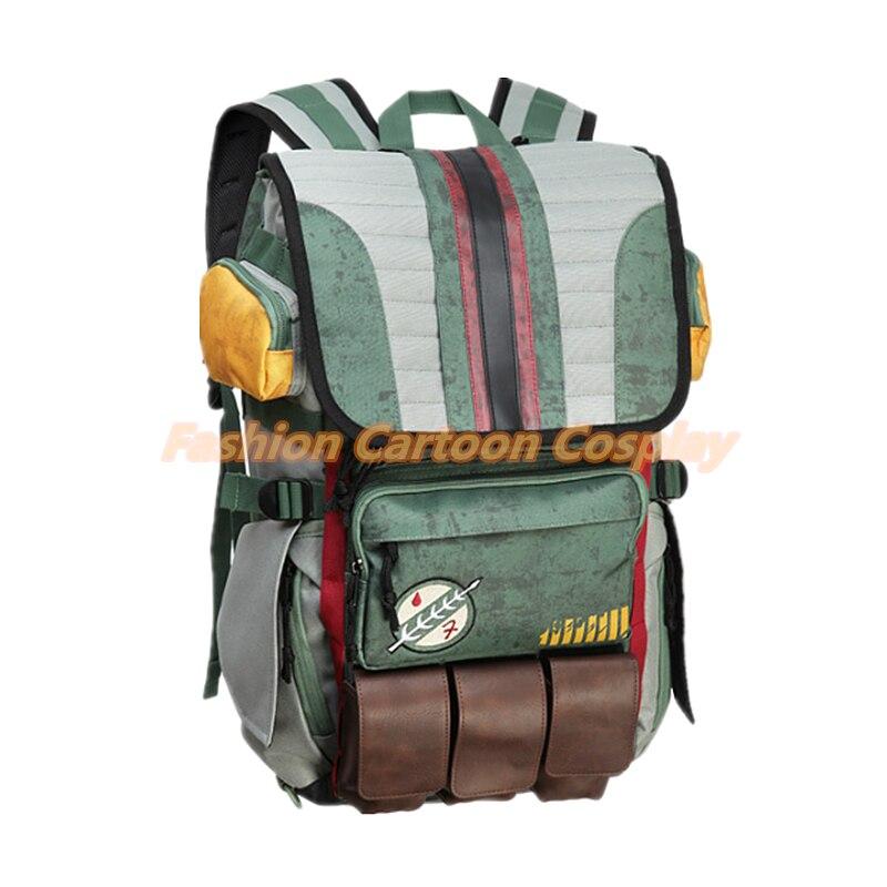 2018 Hot Sale! Star Wars Boba Fett Backpack Laptop Bag Teenager ... b3f8c2dcdc708