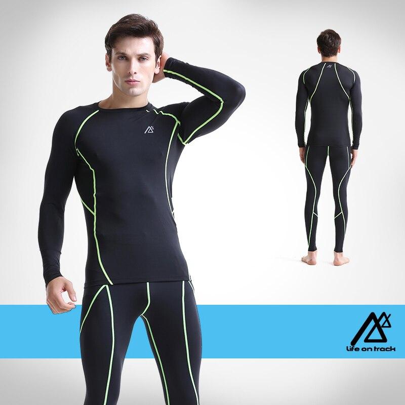 PRO фитнес comepression базовый слой для мужское трико одежда мужская Баскетбол футбол Бег одежда - 4