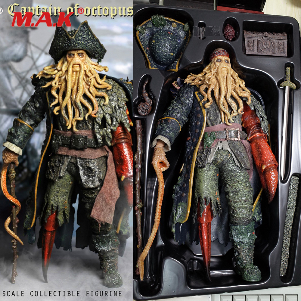 1/6 Caribbean Captain Action Figure Davy Jones figure doll full set doll With ACC Colletible Model Toys And original box