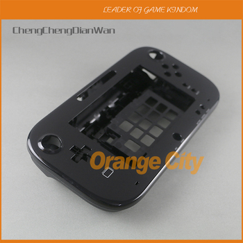5sets/lot Black White Housing shell Case cover For Wii U Gamepad Body Protector Cover Shell Accessories without battery cover
