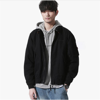 New Arrival Spring Men's Jackets Japan Style Fashion Coats Oversize Male Casual Slim Stand Collar Bomber Winter Jacket Men A3428