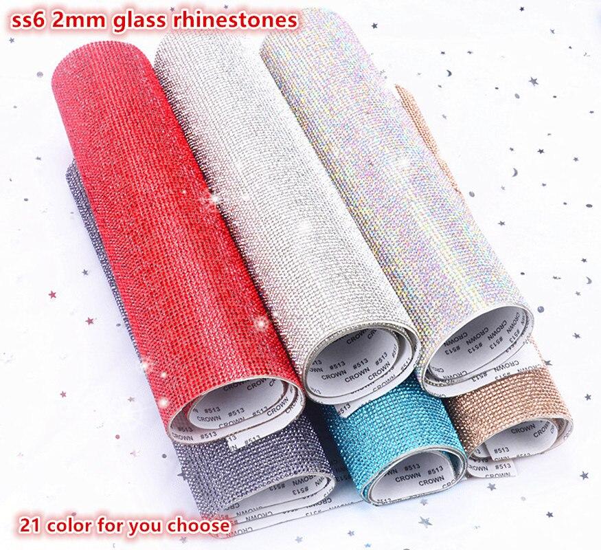 Self Adhesive Or Hotfix Bling Glass Rhinestonetrim Crystal Beaded Applique Iron On Strass Mesh Ribbon Banding For Diy Decoration