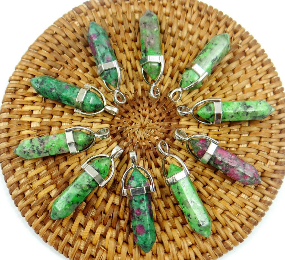Pietra naturale lapis Turchesi occhio di tigre Opal cristallo di Quarzo di fascino Pendenti con gemme e perle per Gioielli fai da te fare collane Accessories24pcs