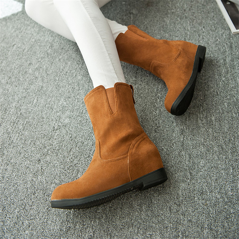 Plue Size 34-43 New Winter Women Warm Snow Boots Female Ankle Boots Fashion Spring Autumn Height Increasing Casual Martin Boots