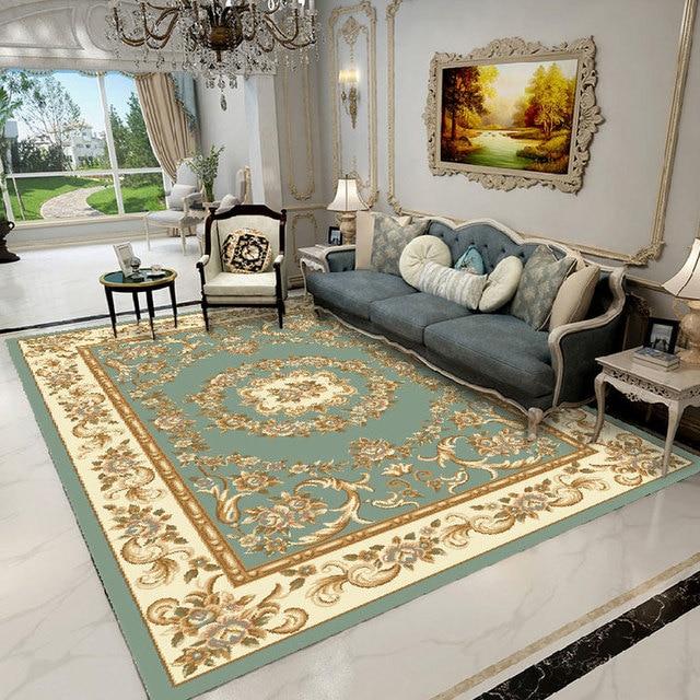 European Luxury Retro Jacquard Carpet Large Non Slip Waterproof Comfortable Rugs Outdoor Prayer Parlor Home Floor Mat Footcloth