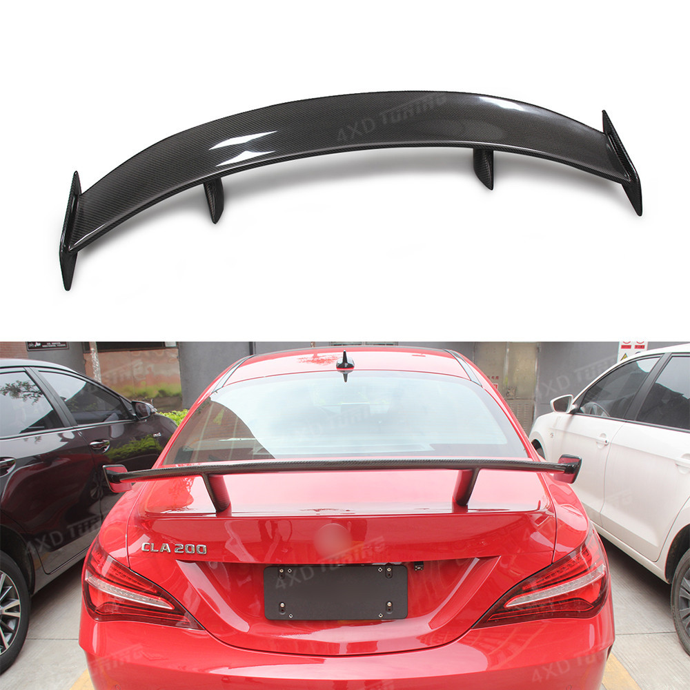 For Mercedes CLA W117 roof Spoiler CLA Class W117 CLA45 AMG Carbon Rear Roof Spoiler Rear Trunk Wing GT Style styling 2013 - UP for mercedes cla w117 carbon spoiler fd style carbon fiber rear wing spoiler with red line cla class w117 amg spoiler 2013 up