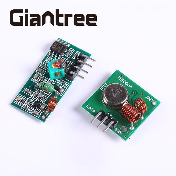 giantree RF Transmitter And Receiver Modules Pair Wireless Link Kit for WL Remote Control Alarm Mainframe Kits двигатели mazda r2 rf mzr cd wl wl t дизель 5 88850 287 1