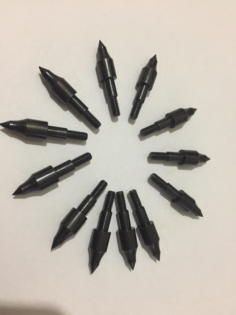 12Pcs 100grain 8/32 Thread Screw field point arrowhead target point OD8mm for compound bow carbon arrow Archery