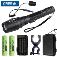 Litwod Z20V5 LED Flashlight Torch XM L L2 T6 Zoomable Led Torch For 2x18650 Battery Aluminum