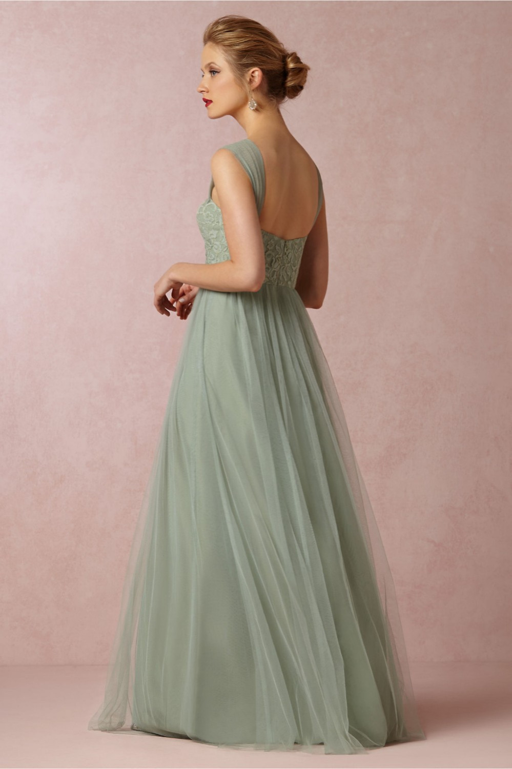 Aliexpress buy mint green long bridesmaid dresses long dress aliexpress buy mint green long bridesmaid dresses long dress to party wedding sheer strap prom gown vestido madrinha casamento imported china from ombrellifo Gallery
