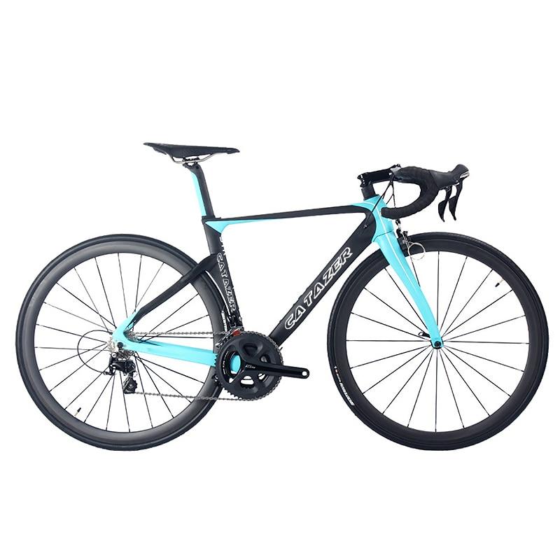CATAZER 700C vélo de route Super léger T800 cadre en carbone course vélo de route carbone roues R8000 22 vitesses vélo de route professionnel