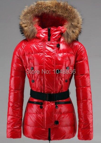 Winterjacke damen rot schwarz