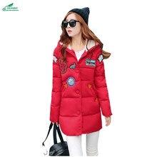 Women autumn and winter new feather cotton jacket Korean fat mm medium long cotton clothing thick cotton Outerwear OKXGNZ QQ1176