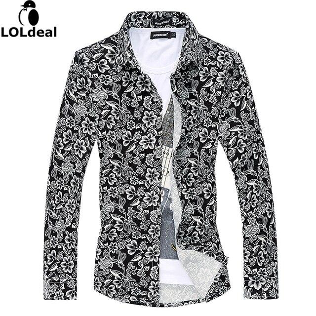 Aliexpress.com : Buy 2017 summer spring new shirt men flowers ...