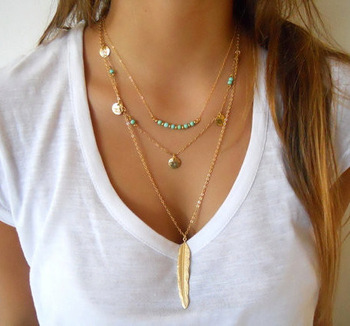 Gold Tassels Beads Choker Necklace