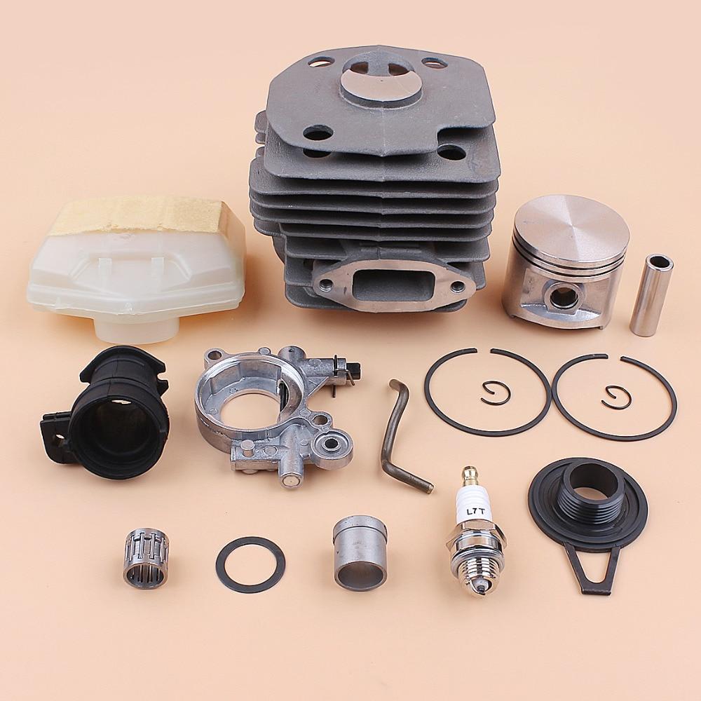 Tools : 50mm Cylinder Piston Oil Pump Worm Gear Air Filter Kit for Husqvarna 362 365 372 371 Jonsered 2065 2071 2165 2171 Chainsaw Motor