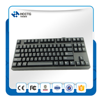 USB Cherry 87 Keys Gaming Mechanical keyboard Red switch White Backlight Game Keyboard HGK87B R W US