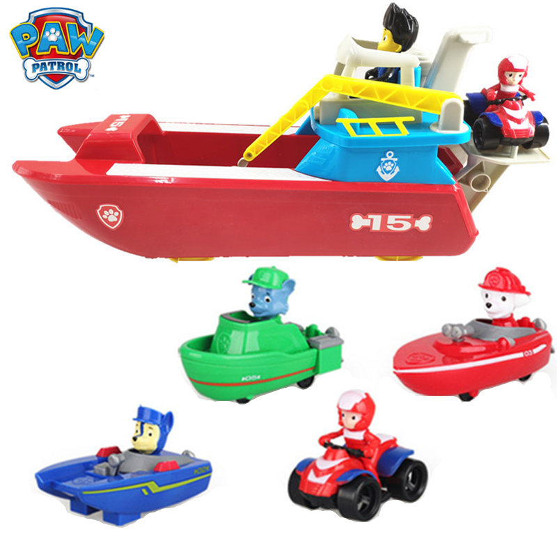 Paw Patrol Toy Ferry Submarine Ship Marine Section Suit Can deformation Action Figure Anime for Children Gift