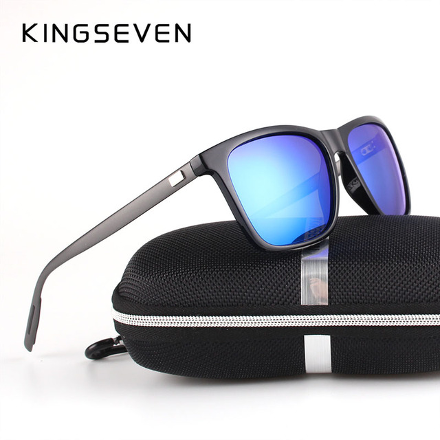 1dce7c5656 KINGSEVEN New Fashion Brand Designer Aluminum TR90 Sunglasses Polarized  Mirror lens Male oculos Sun glasses Eyewear