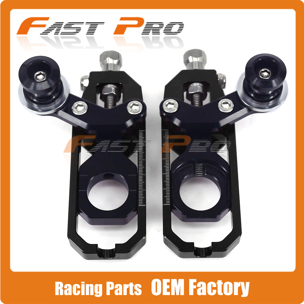 Motorcycle Chain Adjusters Tensioners With Spool for KAWASAKI ZX-6R ZX6R ZX 6R 2005 2006 2007 2008 2009 2010 2011 2012 2013 2014 330 6r