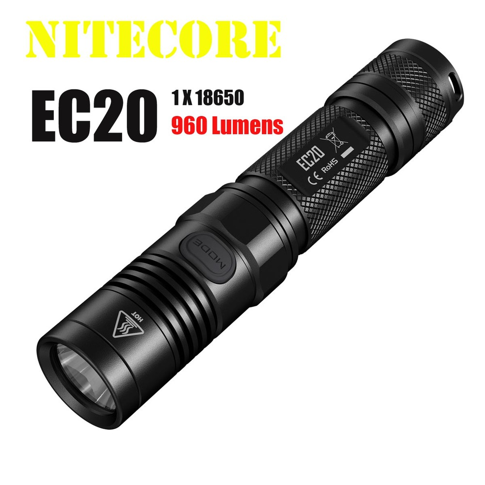 цена на Free shipping 2014 new Original Nitecore EC20 960 lumens CREE XM-L2 T6 LED flashlight