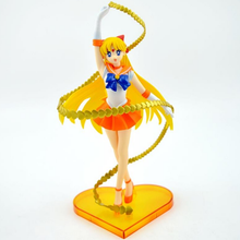 New 8″ Sailor Moon anime Sailor Venus minako aino 20th anniversary 19cm pvc action figure collection model toy juguetes hot