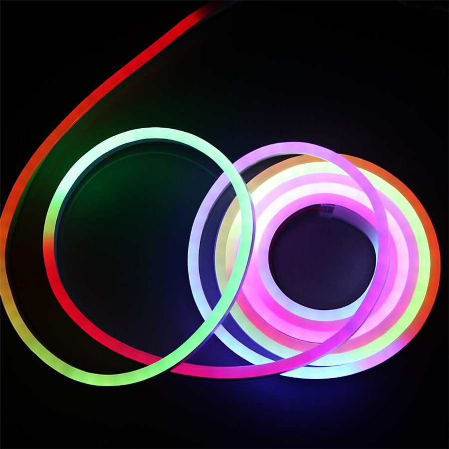 new rgb ws2811 ic flexible led neon light 20meter 5050 smd 60leds m led strip light dc12v. Black Bedroom Furniture Sets. Home Design Ideas