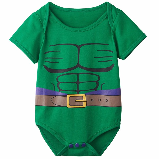 Bébé Garçons Hulk Combinaisons Infantile Manches Courtes Partie Costume D'une Seule Pièce Taille 0-24 Mois