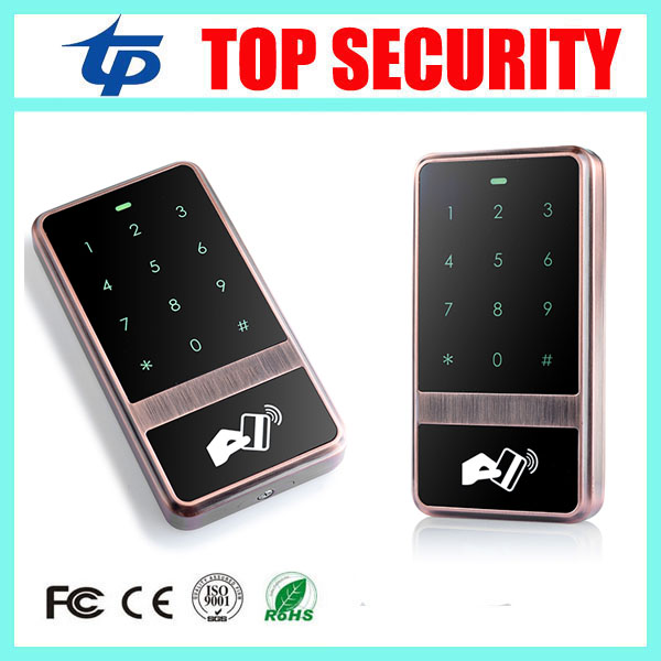 Surface waterproof touch keypad RFID card access control reader 8000 users 125KHZ EM card standalone door access controller waterproof touch keypad card reader for rfid access control system card reader with wg26 for home security f1688a