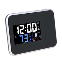Digital Projection Alarm Clock Weather Station Temperature Thermometer Humidity Monitor LED Date Display Bedside Wake Up