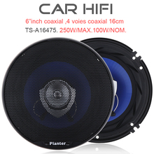 2pcs 6.5 Inch 250W Car HiFi Coaxial  Speaker Vehicle Door Auto Audio Music Stereo Full Range Frequency Speakers for Car Vehicle цены онлайн