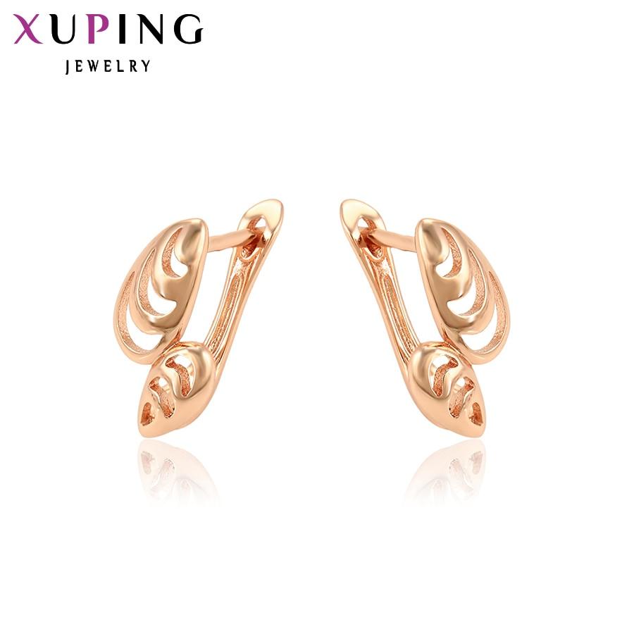 Aroma Xuping Mode Hohe Qualität Rose Gold-farbe Überzogen Ohrringe Schmuck Für Frauen Charme Valentinstag Geschenke S50-29692 Duftendes In