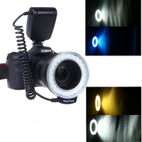 RF 550D Macro 48 Pieces LED Ring Left Flash And Right Flash Light For Canon Nikon