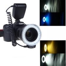 RF-550D Macro 48 pièces LED Anneau Flash Gauche et Droit Flash Light pour Canon Nikon Pentax Olympus Panasonic DSLR