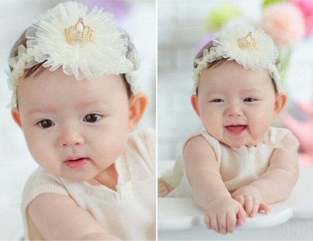 Infant kids baby meisje leuke peuter bloem kroon prinses supreme