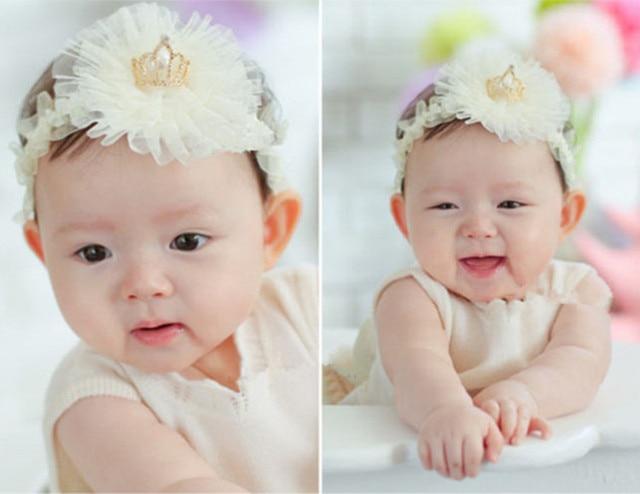 Infantile Enfants Bebe Fille En Bas Age Mignon Couronne De Fleurs