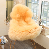 MUZZI 100% real Sheepskin Chair Cover Warm Hairy Carpet Seat Pad long Skin Fur Plain Fluffy Area Rugs