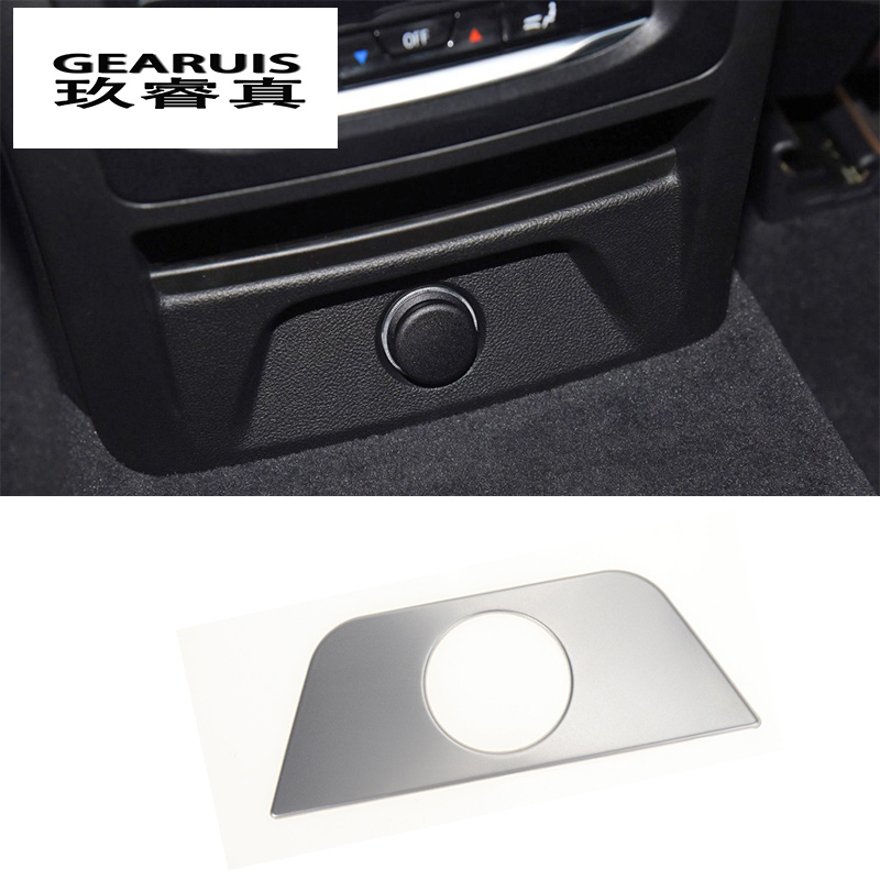 Car Styling Back Air conditioning outlet Row Cigarette Lighter Cover Stickers Trim For <font><b>BMW</b></font> <font><b>X3</b></font> G01 <font><b>2018</b></font> Interior Auto <font><b>Accessories</b></font> image