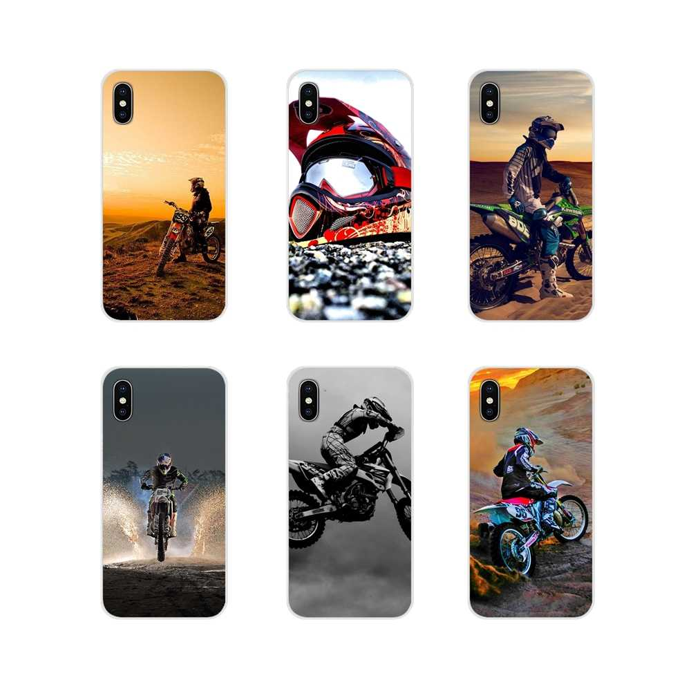 Kotoran Sepeda Moto Bersepeda Ras Moto Cross Lembut TPU Case untuk Samsung Galaxy S3 S4 S5 Mini S6 S7 Edge s8 S9 S10 Lite Plus Note 4 5 8 9