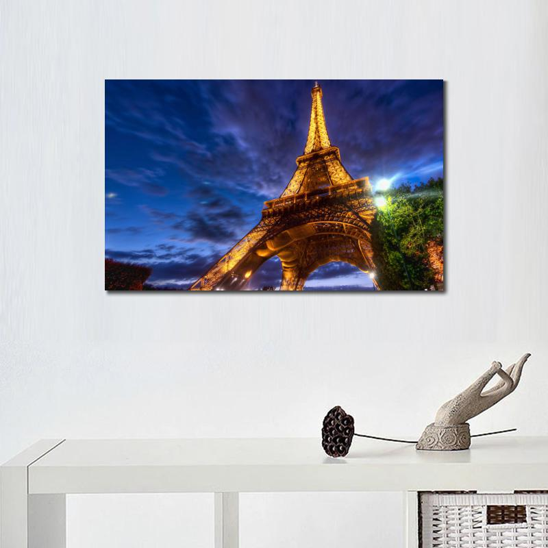 Wall decoration prints canvas piantings City eiffel tower hdr ...