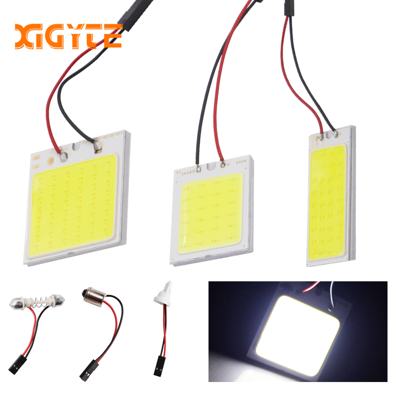 T10 Cob 24 SMD 36 48 SMD Car Led Vehicle Panel Lamps Auto Interior Reading Lamp Bulb Light Dome Festoon BA9S DC 12v car styling 100x car dome light 18 smd 5630 18smd 5730 led car interior roof panel reading auto with t10 ba9s festoon 2 adapters white 12v