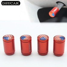 DSYCAR 4 pcs/lot USA flag Car Moto Bike Tire Wheel Valve Cap Dust covers Car Styling for Fiat Audi Ford Bmw VW Honda opel toyota