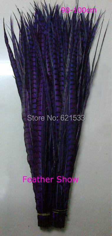 Plumas de cola de Lady Amherst Pheasant Side 35-40 pulgadas / - Artes, artesanía y costura