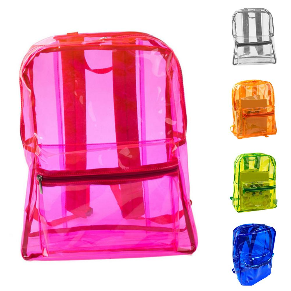 Women Transparent Adult Kids Clear Backpacks Student Sports Waterproof Travel Bags shoulder bag fashionWomen Transparent Adult Kids Clear Backpacks Student Sports Waterproof Travel Bags shoulder bag fashion