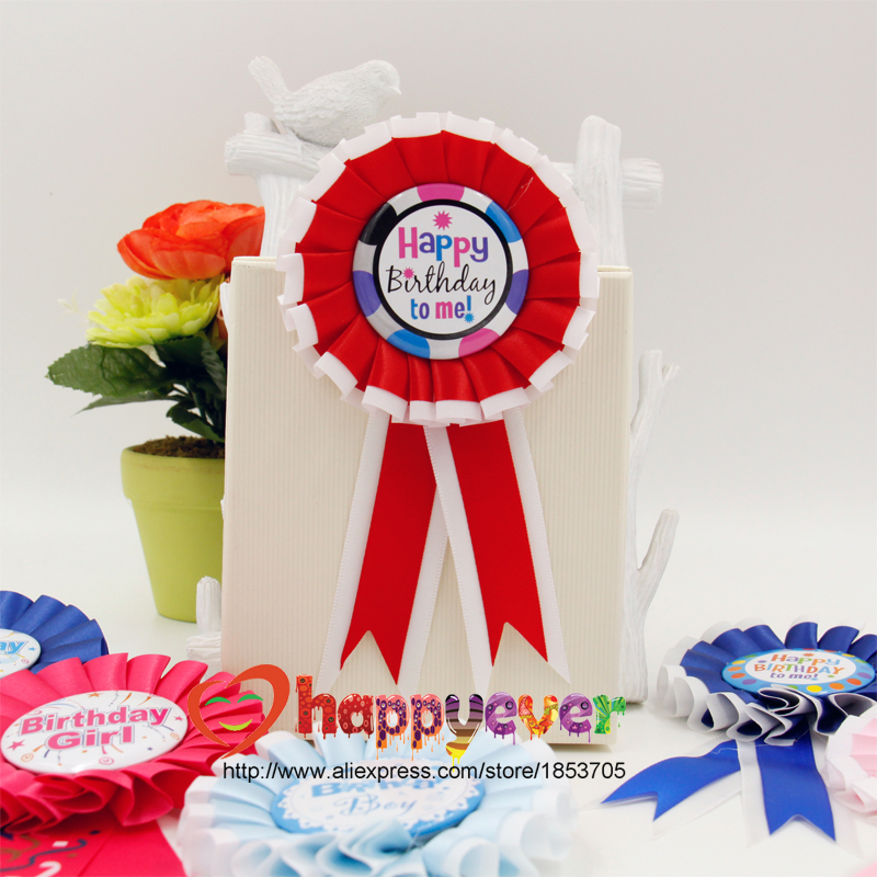Birthday Girl Boy Award Ribbon Party Partners Design Guest
