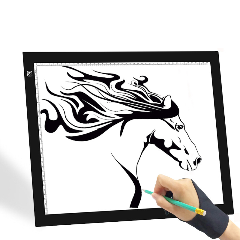 LED tablette de traçage A3 artiste planche de traçage papier dessin suivi copie carton LED boîte 3 vitesses réglable 18.5*14.6 pouces